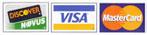 Visa, Mastercard and Discover