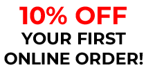 10% Off Your first Online Order!